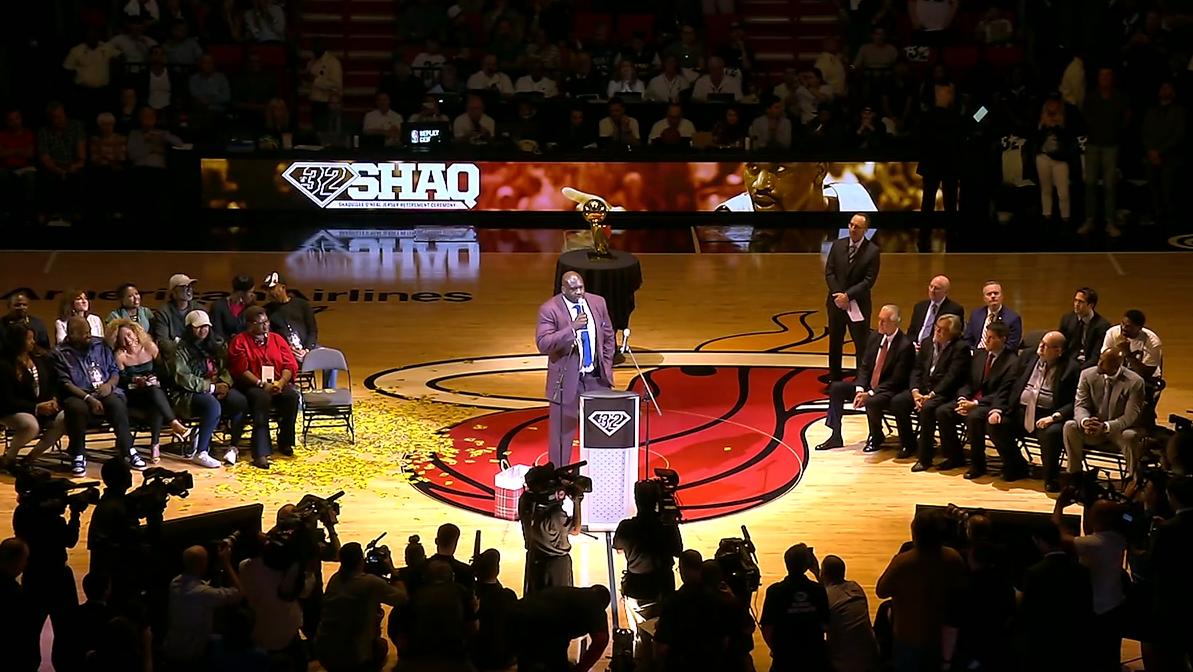 Le Heat a fêté Shaquille O'Neal, sa mère a débarqué en camion...