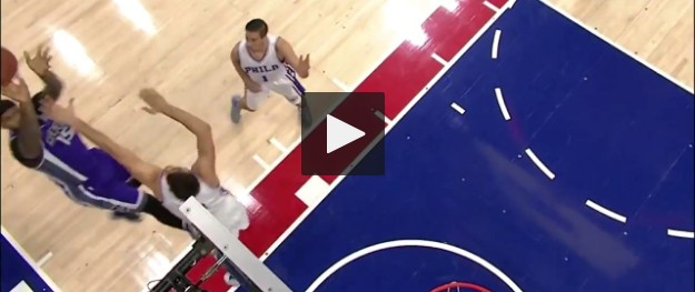 DeMarcus Cousins rentre un shoot impossible