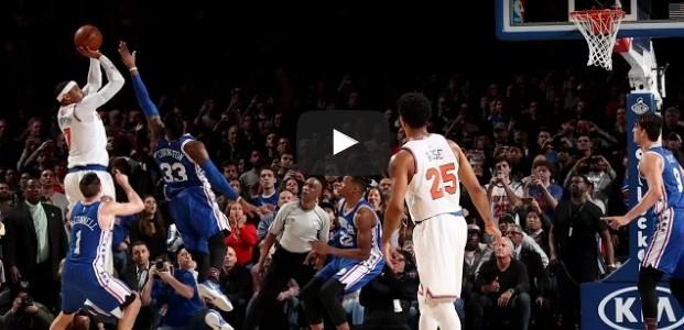 Perf : Comment Carmelo Anthony (37 pts) a sauvé les Knicks face aux Sixers