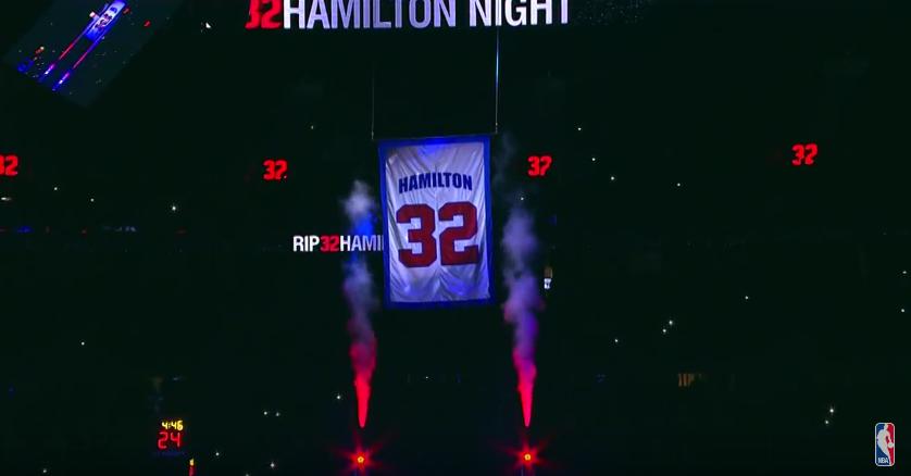 Les Pistons ont retiré le maillot de Rip Hamilton