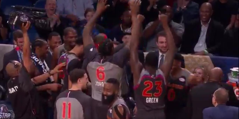 L'équipe de l'Ouest se moque de Russell Westbrook et Kevin Durant !