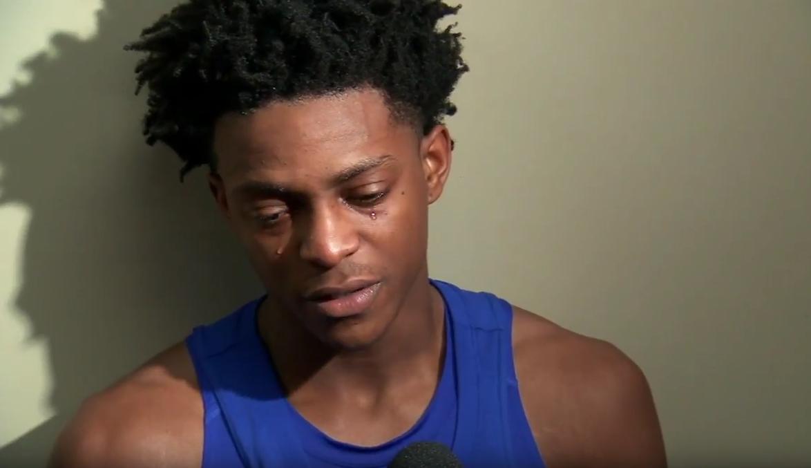 Les larmes émouvantes de De'Aaron Fox, la starlette de Kentucky