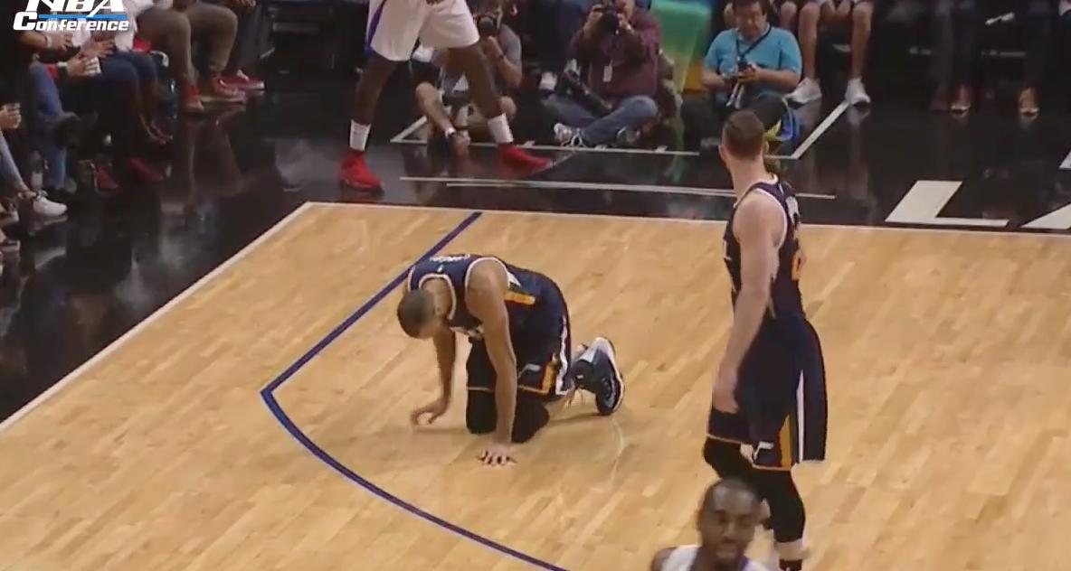 Terrible : La blessure au genou de Rudy Gobert après 11 secondes !