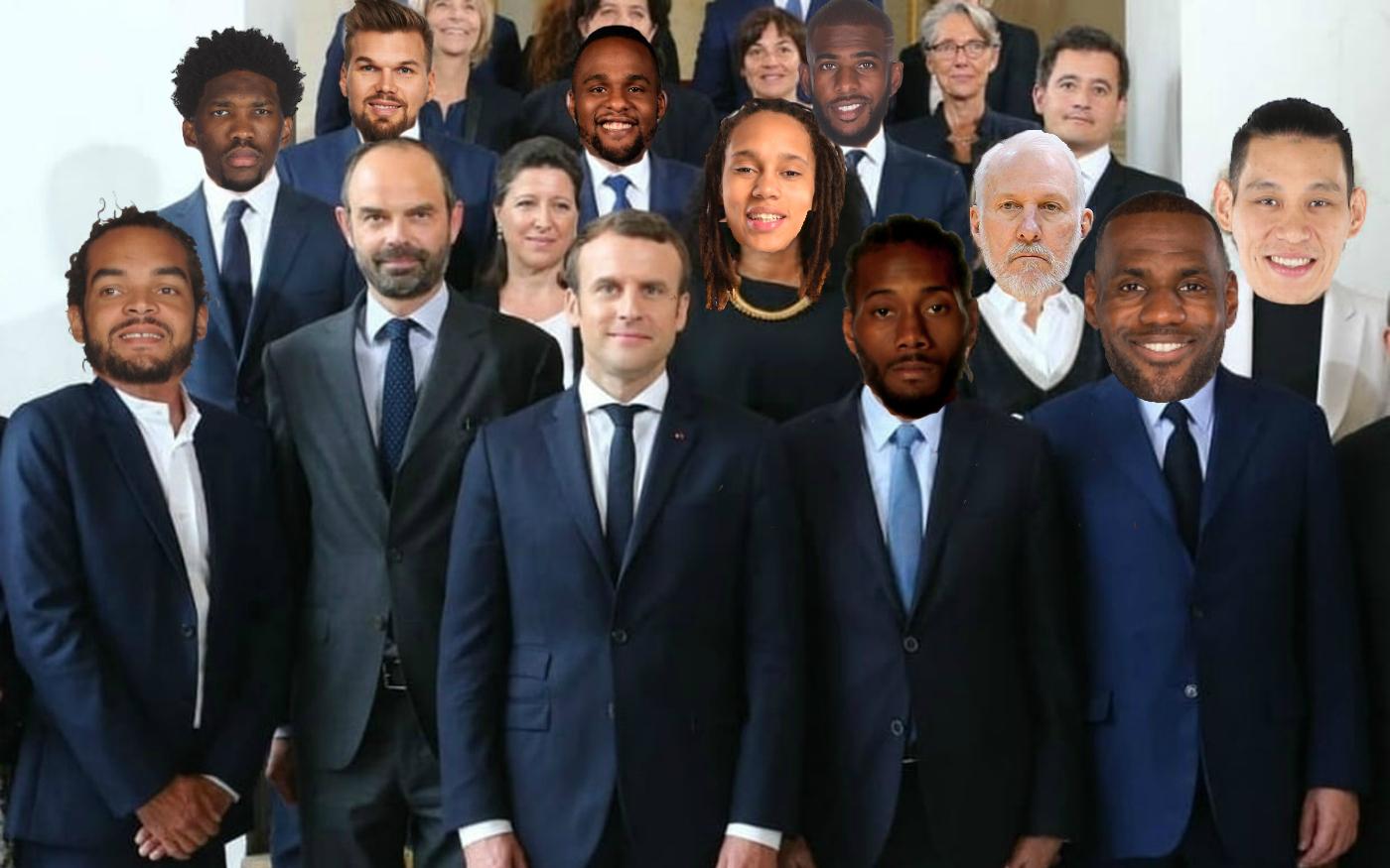 Le gouvernement Macron à la sauce NBA