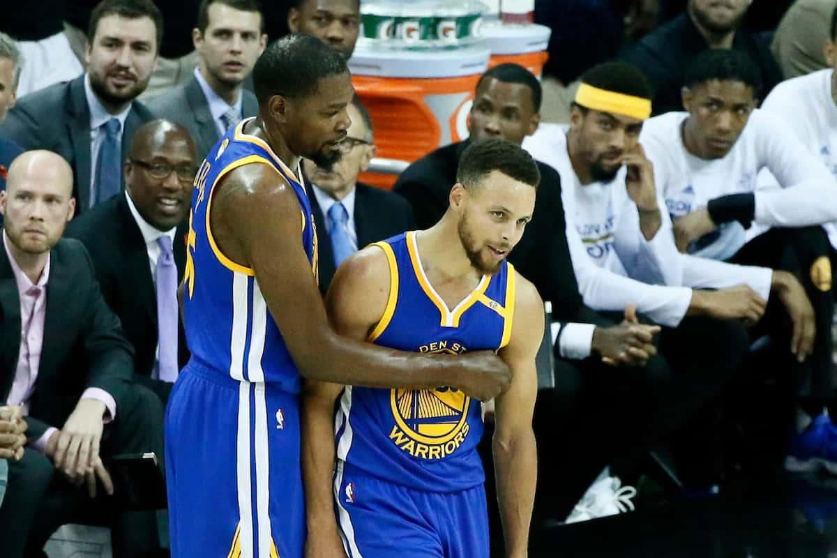 Kevin Durant ne s'inquiète vraiment pas pour Stephen Curry