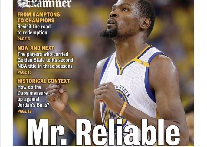 Kevin Durant : Un journal d'Oakland trolle Oklahoma City