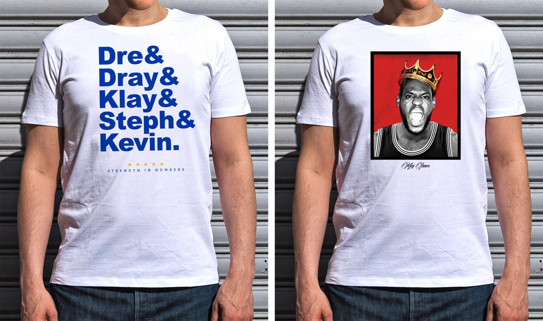Nouvelle collection de t-shirts spéciale finales NBA 2017