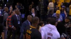 WTF ?? Une baston éclate sous les yeux de LeBron James !