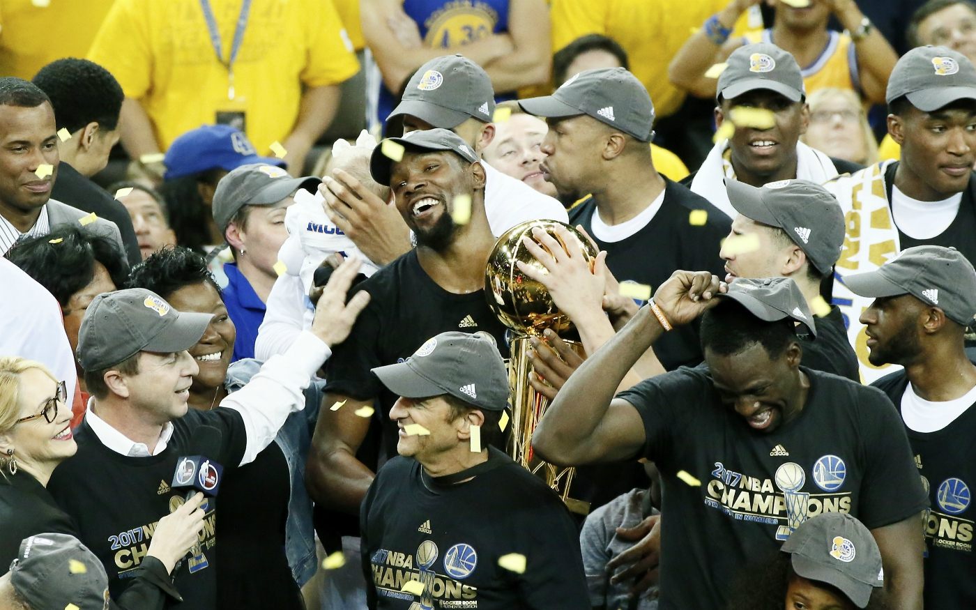 Les Golden State Warriors sont champions NBA, Kevin Durant MVP !