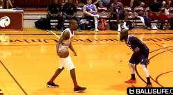Sale : Jamal Crawford met le ballon dans le dos d'un défenseur