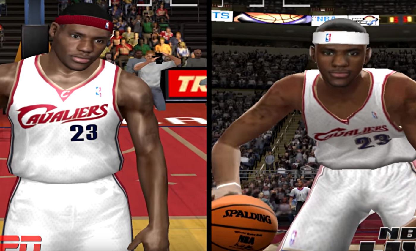 L'évolution de LeBron James dans NBA 2K et NBA Live