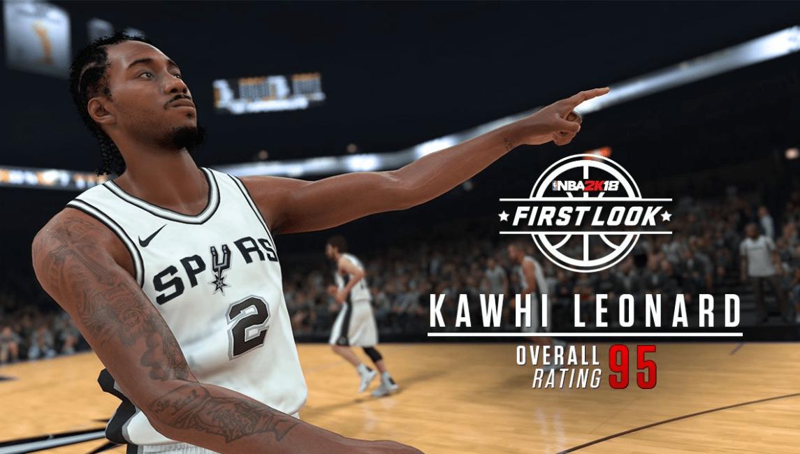 Kawhi Leonard plus fort que Stephen Curry… dans NBA 2K18