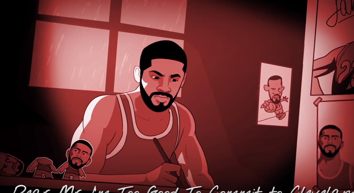 Le beef Kyrie-LeBron transformé en chanson d'Eminem