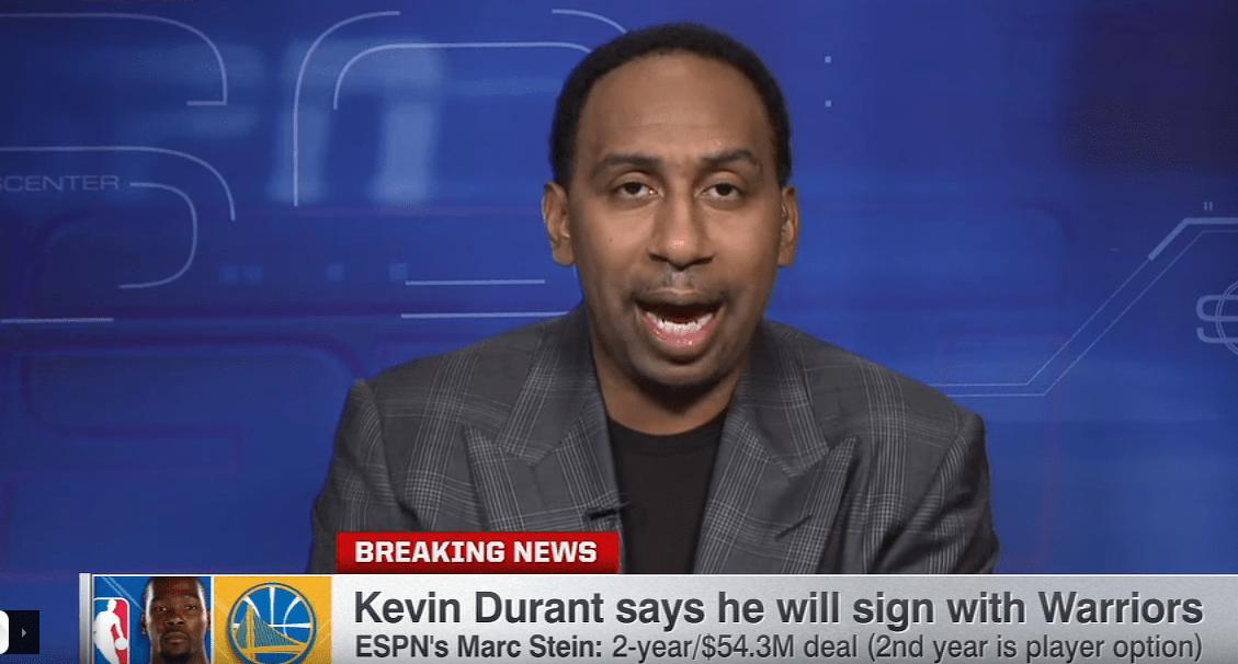 Stephen A. Smith se lâche encore sur Kevin Durant