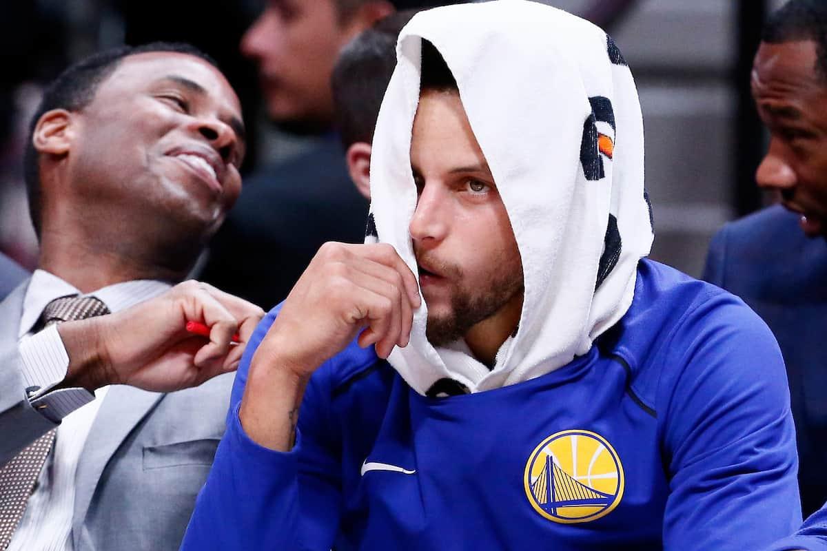 Stephen Curry encore blessé, inquiétude aux Warriors !