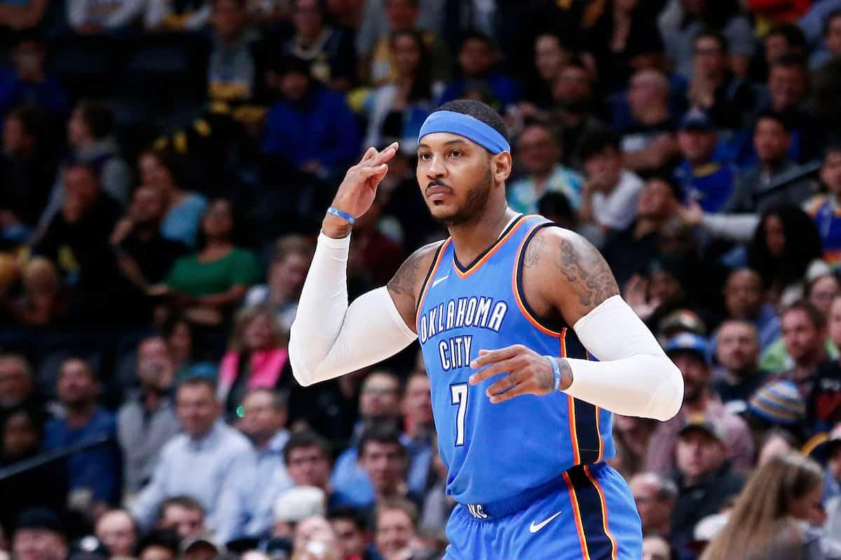 Carmelo Anthony ironise sur son choix de rester au Thunder