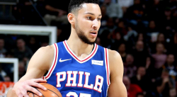 Ben Simmons tacle Donovan Mitchell