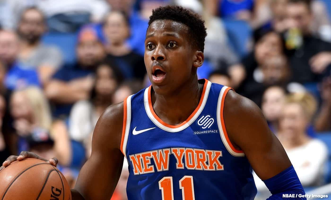 Contre Smith Jr, Frank Ntilikina a marqué des points
