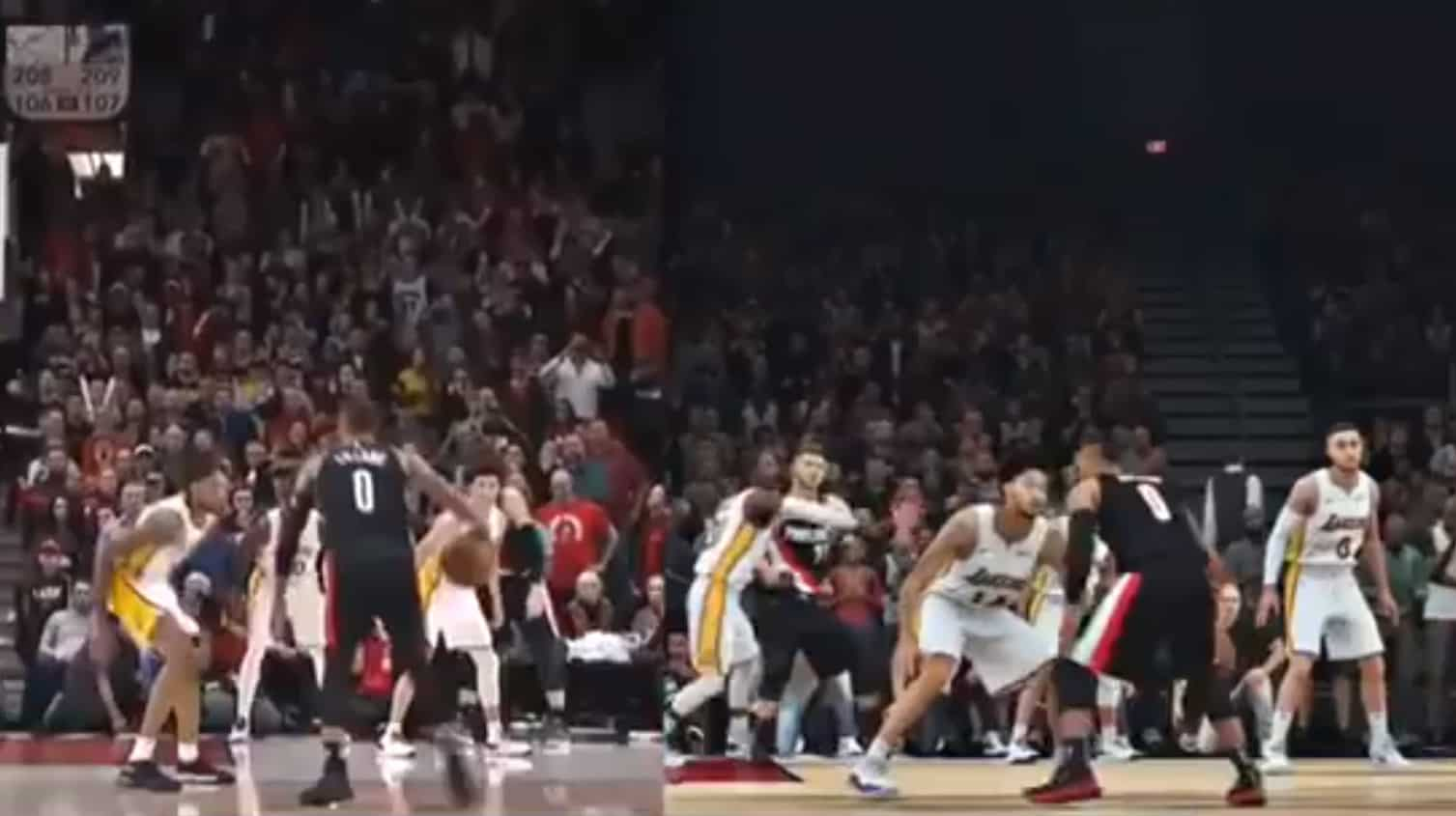 Le game winner de Damian Lillard recréé à la perfection sur NBA 2K18