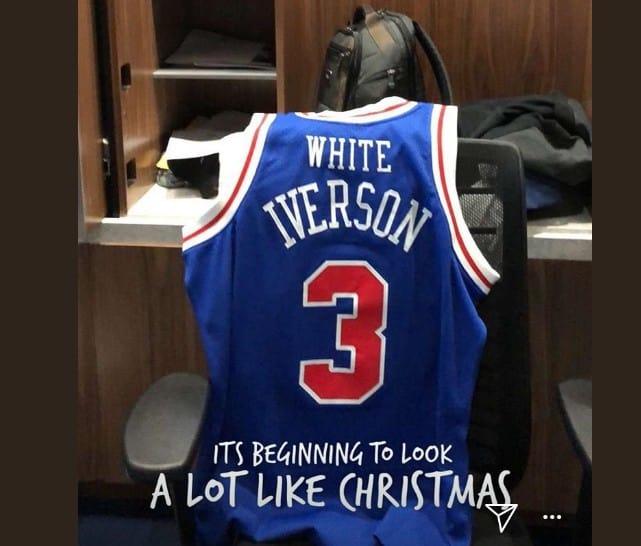Les Sixers ont offert un maillot «White Iverson» à TJ McConnell