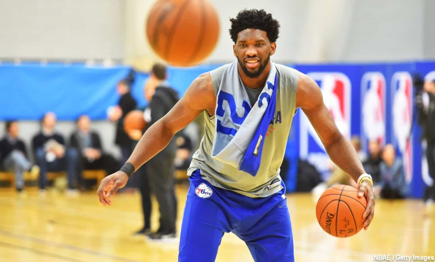 Joel Embiid : « Je pense qu'on va aller en playoffs »