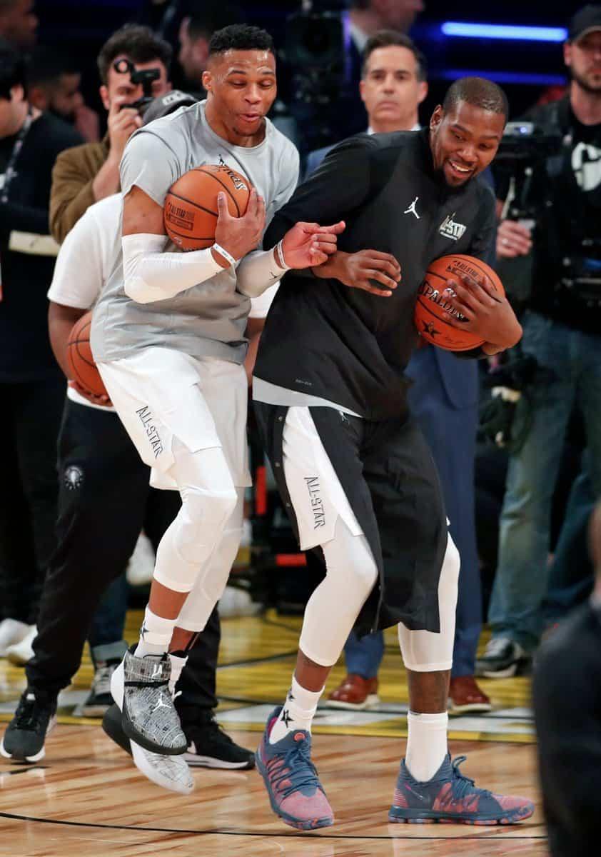 Westbrook et Durant ont l'air d'avoir fait la paix