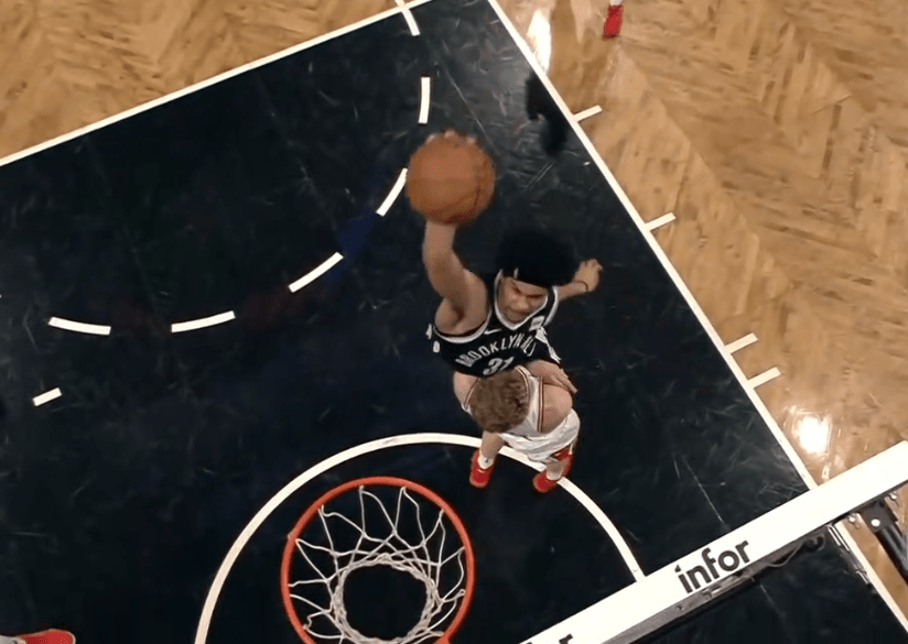 Jarrett Allen assassine Lauri Markkanen !