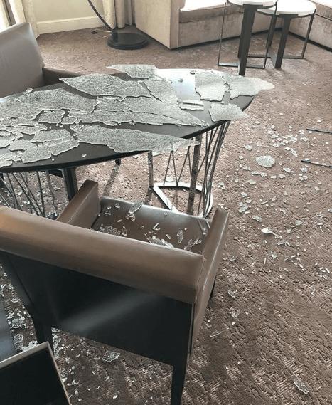 Stephen Curry a détruit sa chambre d'hôtel avec son club de golf