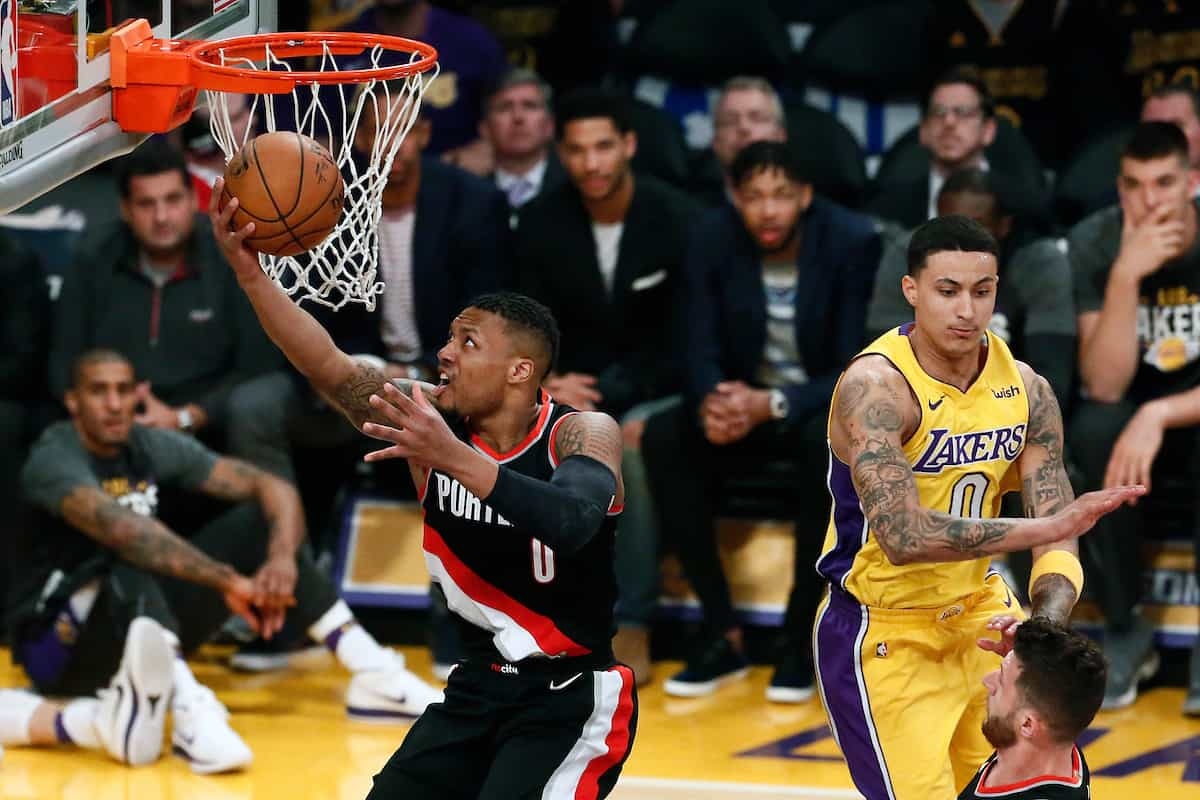 Chaud patate, Damian Lillard met quatre 3-points de suite