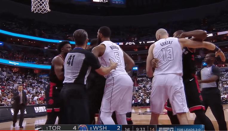 Wizards et Raptors n'ont pas arrêté de s'embrouiller