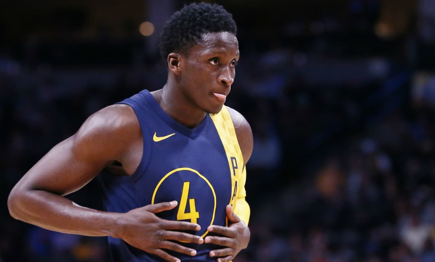 Oladipo archi-clutch pour taper Boston