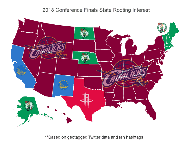 Cleveland Cavaliers Léquipe La Plus Soutenue Aux Etats Unis