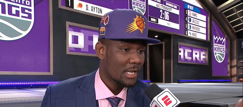Les Phoenix Suns misent sur DeAndre Ayton en premier choix
