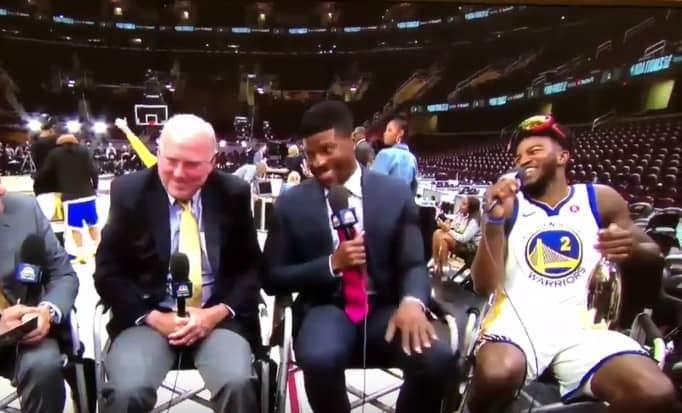 Champion NBA, Jordan Bell apparaît complètement déchiré à la télévision