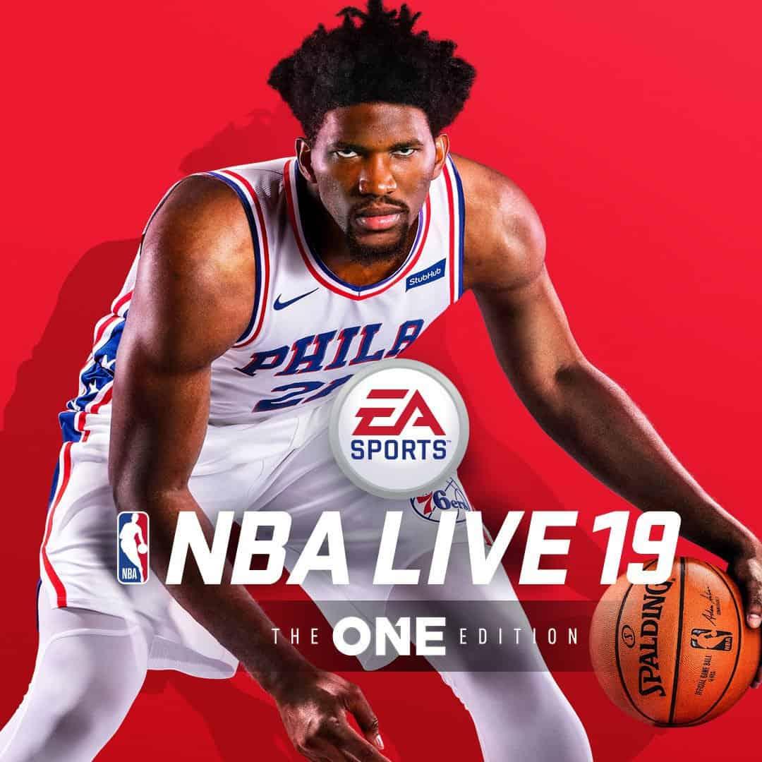 Joel Embiid cover athlete de NBA Live 19