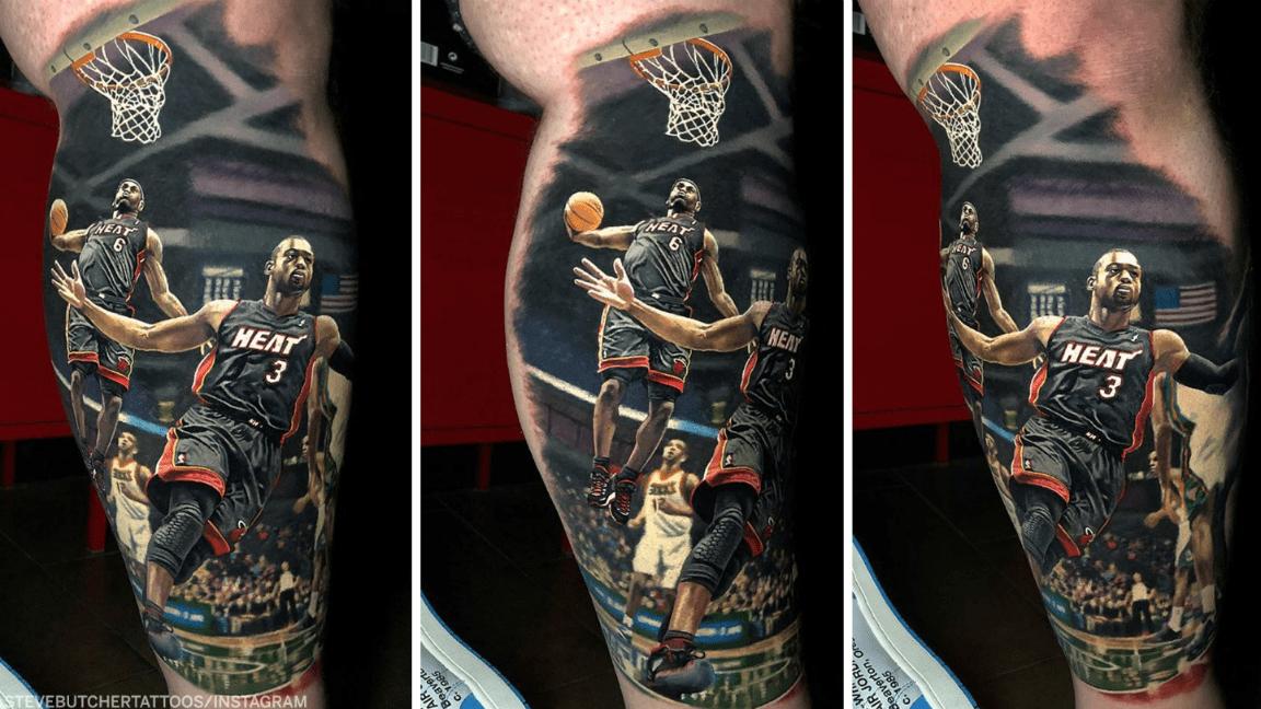Le tatouage hallucinant d'un fan de LeBron et Wade