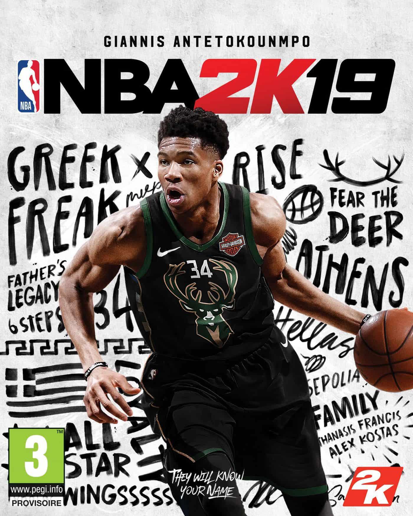 Giannis en cover de NBA 2K19 : «Montrer la voie»