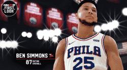 Ben Simmons pas content de sa note dans 2K