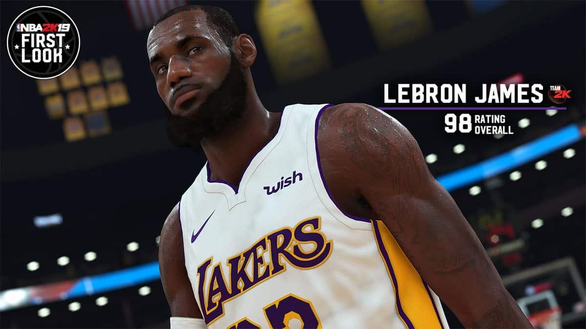 On connaît la note de LeBron James dans NBA 2K19 !