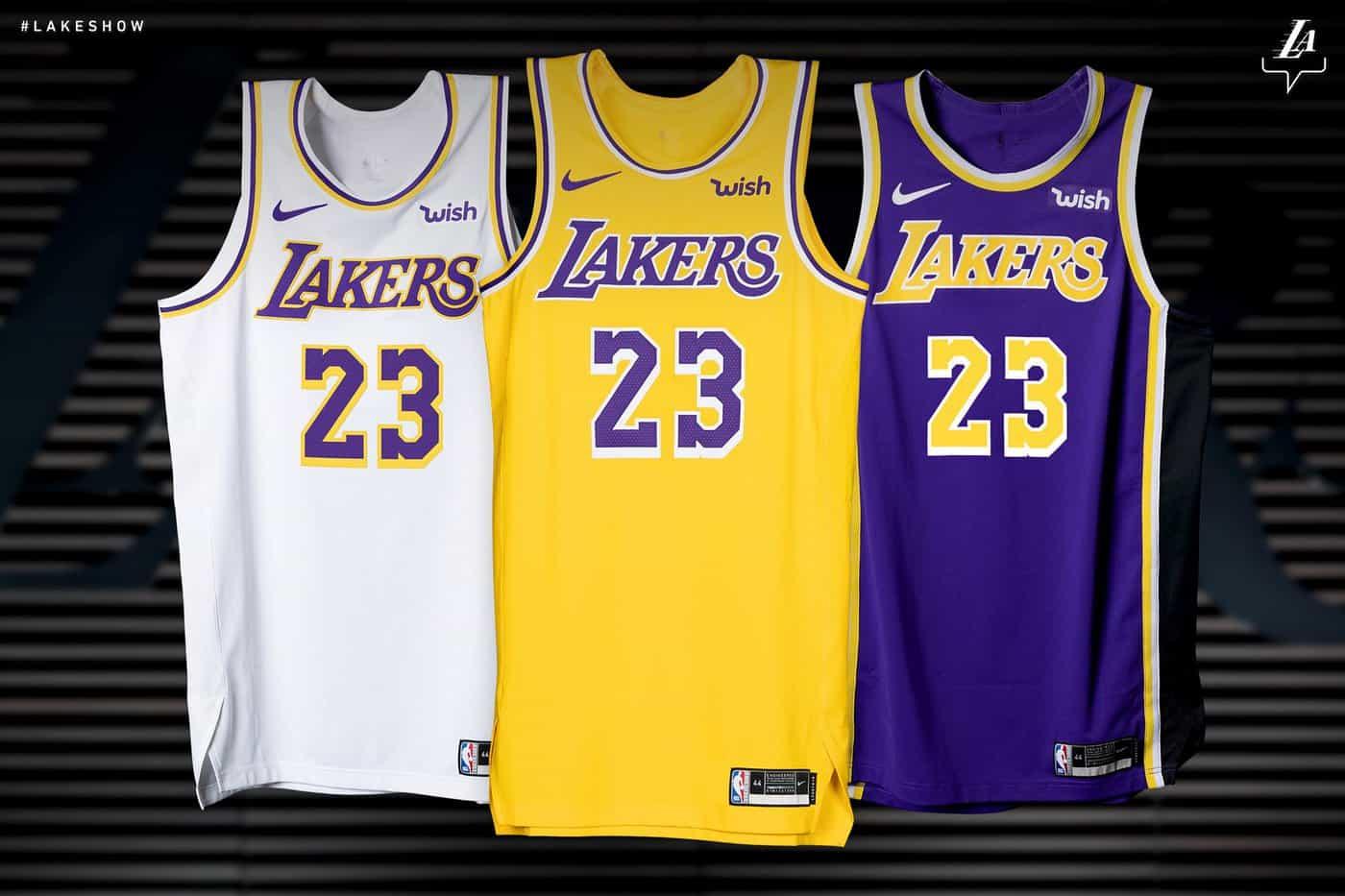 Officiel : voici les nouveaux maillots des Los Angeles Lakers