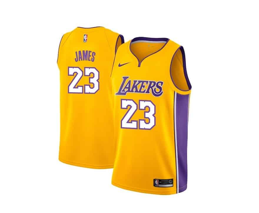 Les maillots Lakers de LeBron James retirés des rayons