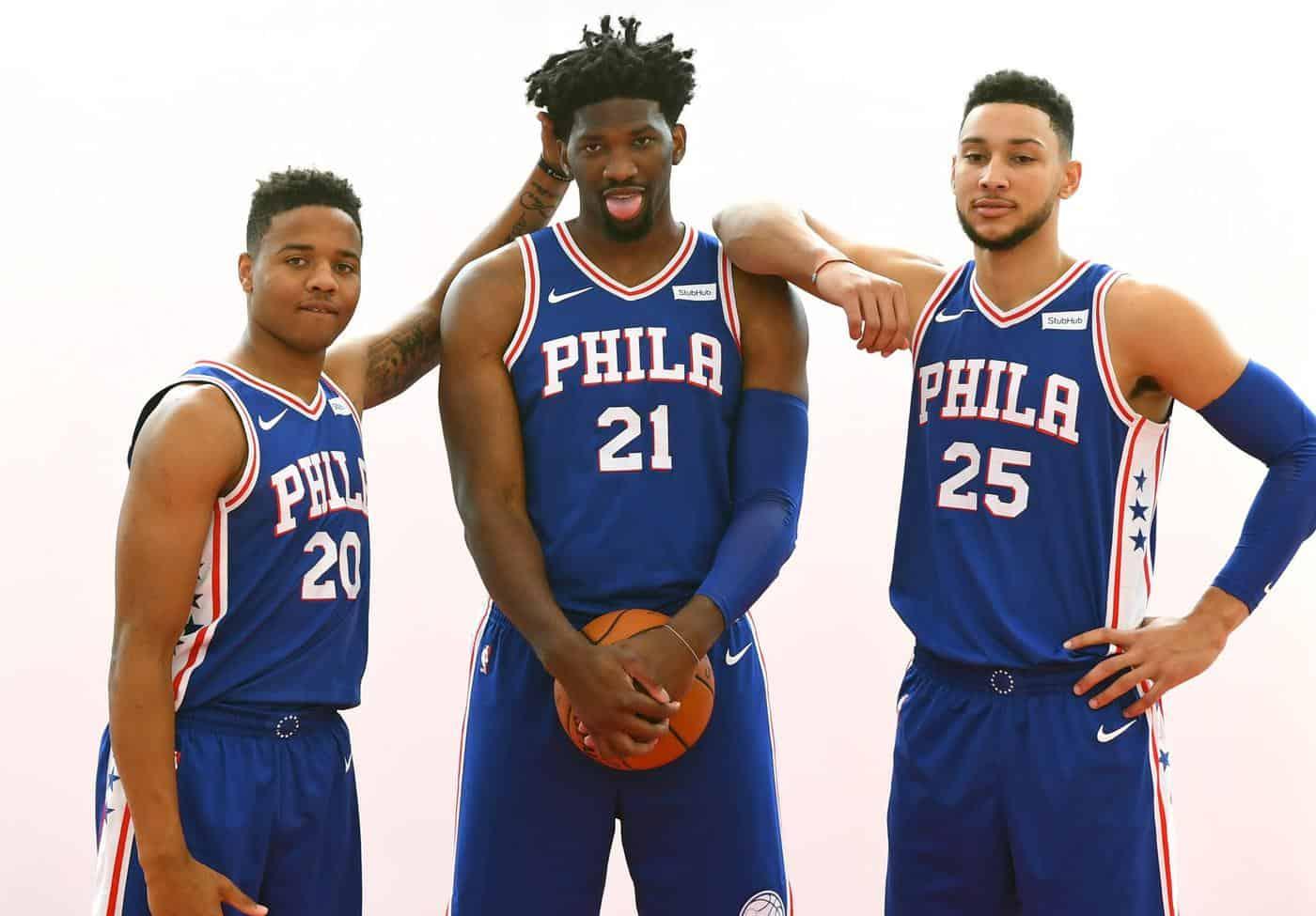 Philadelphia Sixers Markelle Fultz Joel Embiid Ben Simmons Philadelphia Sixers