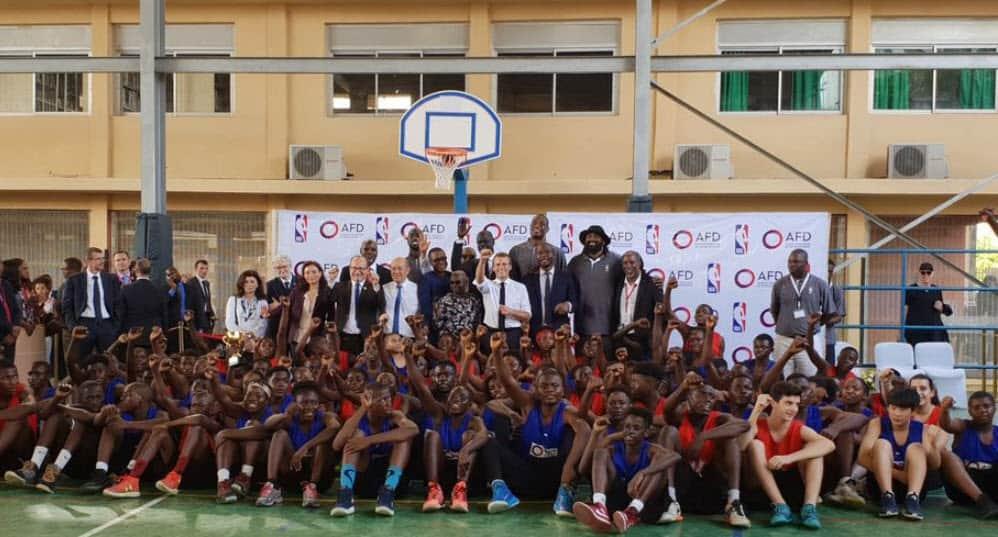 La NBA et la France vont oeuvrer pour la jeunesse africaine