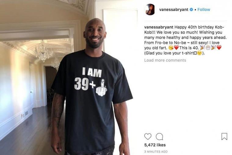 Le t-shirt génial offert à Kobe Bryant par sa femme