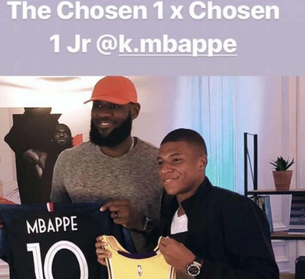 Pour LeBron, Mbappé est le «Chosen One Jr»
