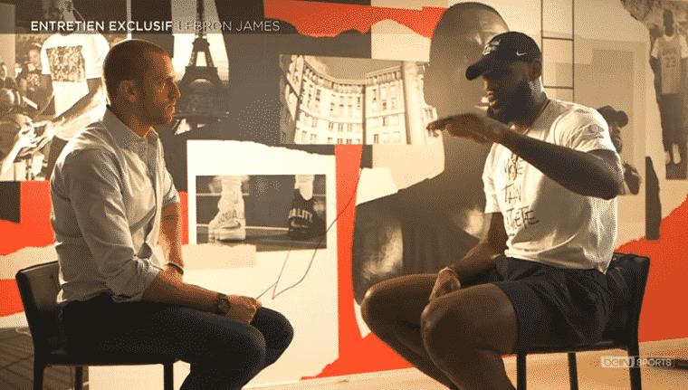 LeBron chez beIN : «Pas fan de moi-même»