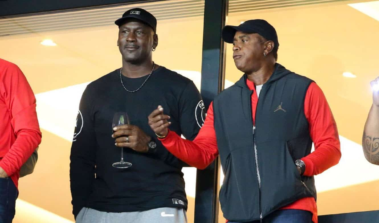 wholesale online 50% price later Michael Jordan a assisté à PSG-Reims avec Ahmad Rashad
