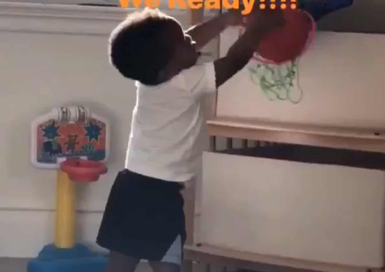 Le fils de Russell Westbrook «dunke» déjà