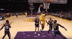 Le premier dunk de LeBron avec les Lakers, sous tous les angles