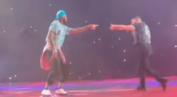 LeBron déboule sur scène avec Drake et Travis Scott